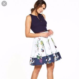 Ted Baker Enchantment Floral Print Dress -Size 3